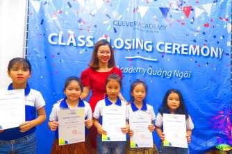 Tưng bừng Lễ Vinh Danh và Trao Chứng Chỉ Học Viên tốt nghiệp khoá 1 tại Clever Academy - Quảng Ngãi Campus